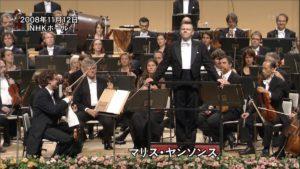NHK音楽祭2008で挨拶するマリス・ヤンソンスとコンセルトヘボウ管弦楽団
