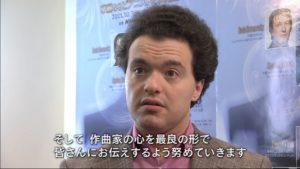 NHK音楽祭2011でインタビューに応じるエフゲニー・キーシン