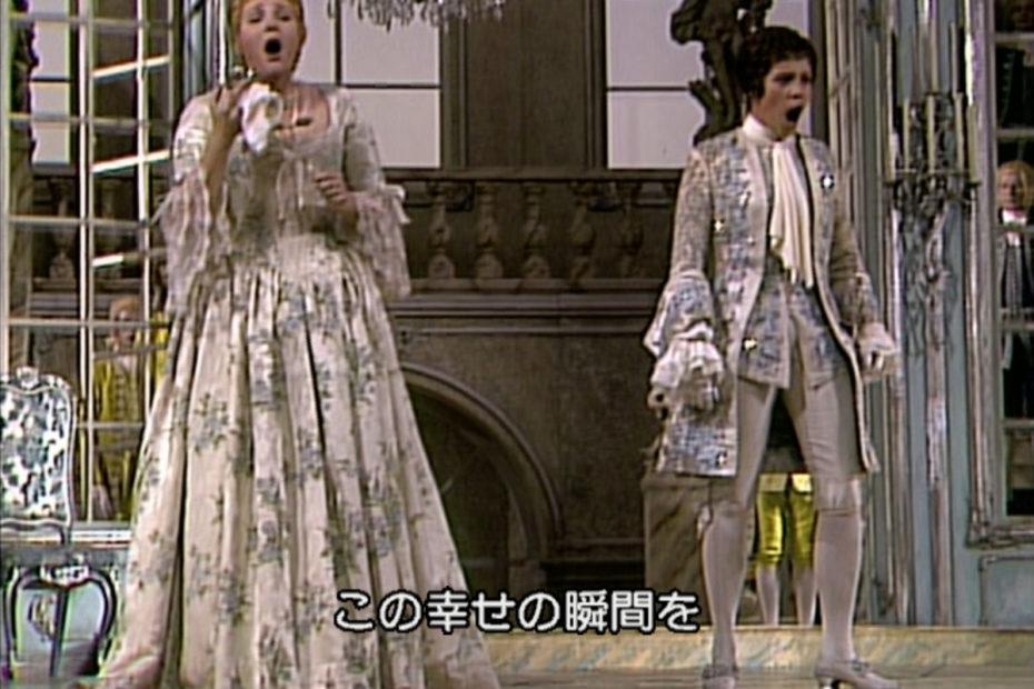 ばらの騎士 第2幕で二重唱を歌うオクタヴィアンとゾフィー