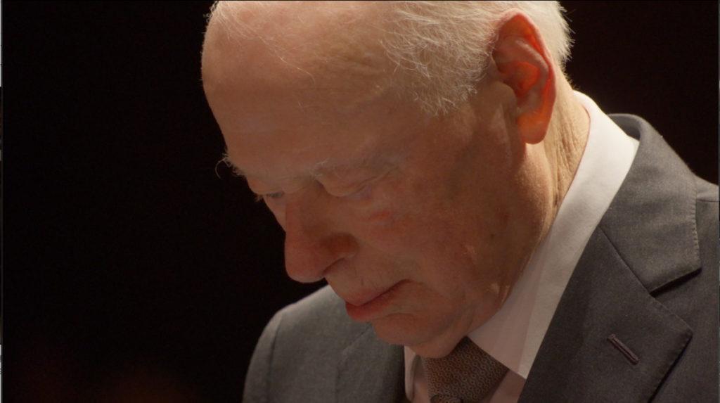 ブルックナーの交響曲第7番を演奏し終えたベルナルト・ハイティンク