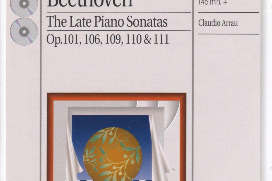 ベートーヴェン後期ピアノ・ソナタ集 クラウディオ・アラウ(1963-1965年)