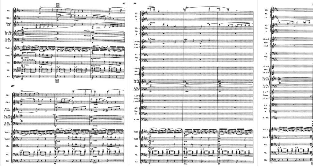 ブルックナー交響曲第8番 第2槁のハース版 第3楽章209〜218小節