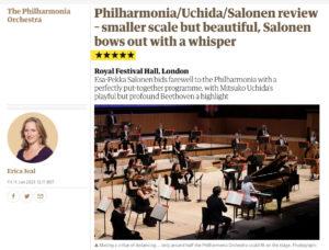 【ガーディアン誌】サロネンとフィルハーモニア管のコンサートのレビュー記事