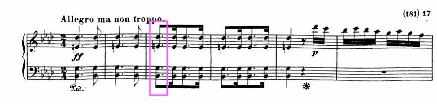 ベートーヴェンのピアノ・ソナタ第23番「熱情」の第3楽章(ブライトコプフ版)
