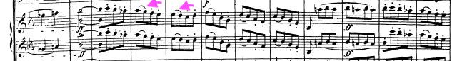 ベートーヴェン交響曲第5番「運命」第1楽章より。ブライトコプフ第1版