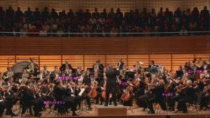 クラウディオ・アバドとルツェルン祝祭管弦楽団の配置 (c) EuroArts