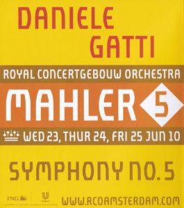 マーラー交響曲第5番 ダニエレ・ガッティ/ロイヤル・コンセルトヘボウ管弦楽団(2010年)