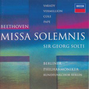 ベートーヴェン「ミサ・ソレムニス」 サー・ゲオルグ・ショルティ/ベルリン・フィルハーモニー管弦楽団(1994年)