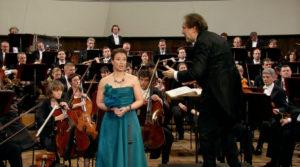 マーラーの交響曲第4番でソプラノ独唱を務めたクリスティーナ・ラントシャマー (c) Accentus Music