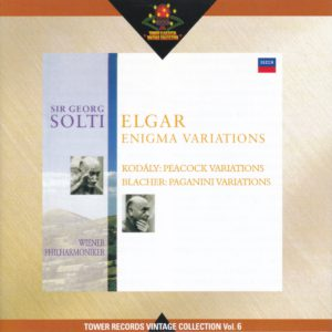 エルガー「エニグマ変奏曲」他 サー・ゲオルグ・ショルティ/ウィーン・フィルハーモニー管弦楽団(1996年)